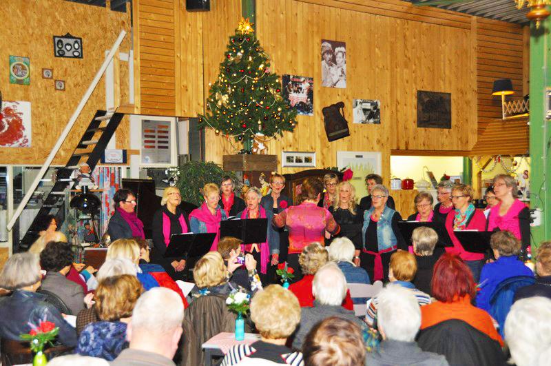 zangkoor, kerstmis, groep, Lunchroom Bij Saartje, feest
