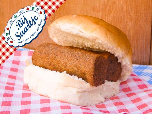 Broodje frikandel Lunchroom Bij Saartje