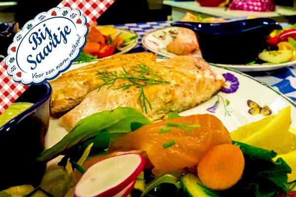 zalm, malse zalm, hollandaise saus, Lunchroom Bij Saartje