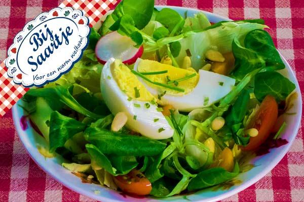 salade, verse salade, Lunchroom Bij Saartje