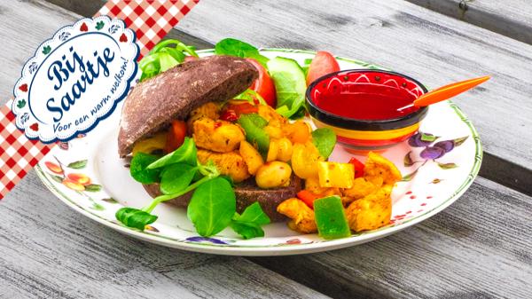 Broodje hete kip - Lunchroom Bij Saartje