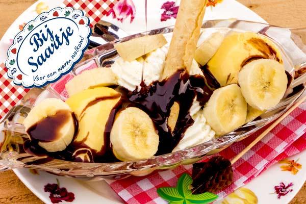 bokito blanche, dessert, bananenijs, bananen ijs, Lunchroom Bij Saartje