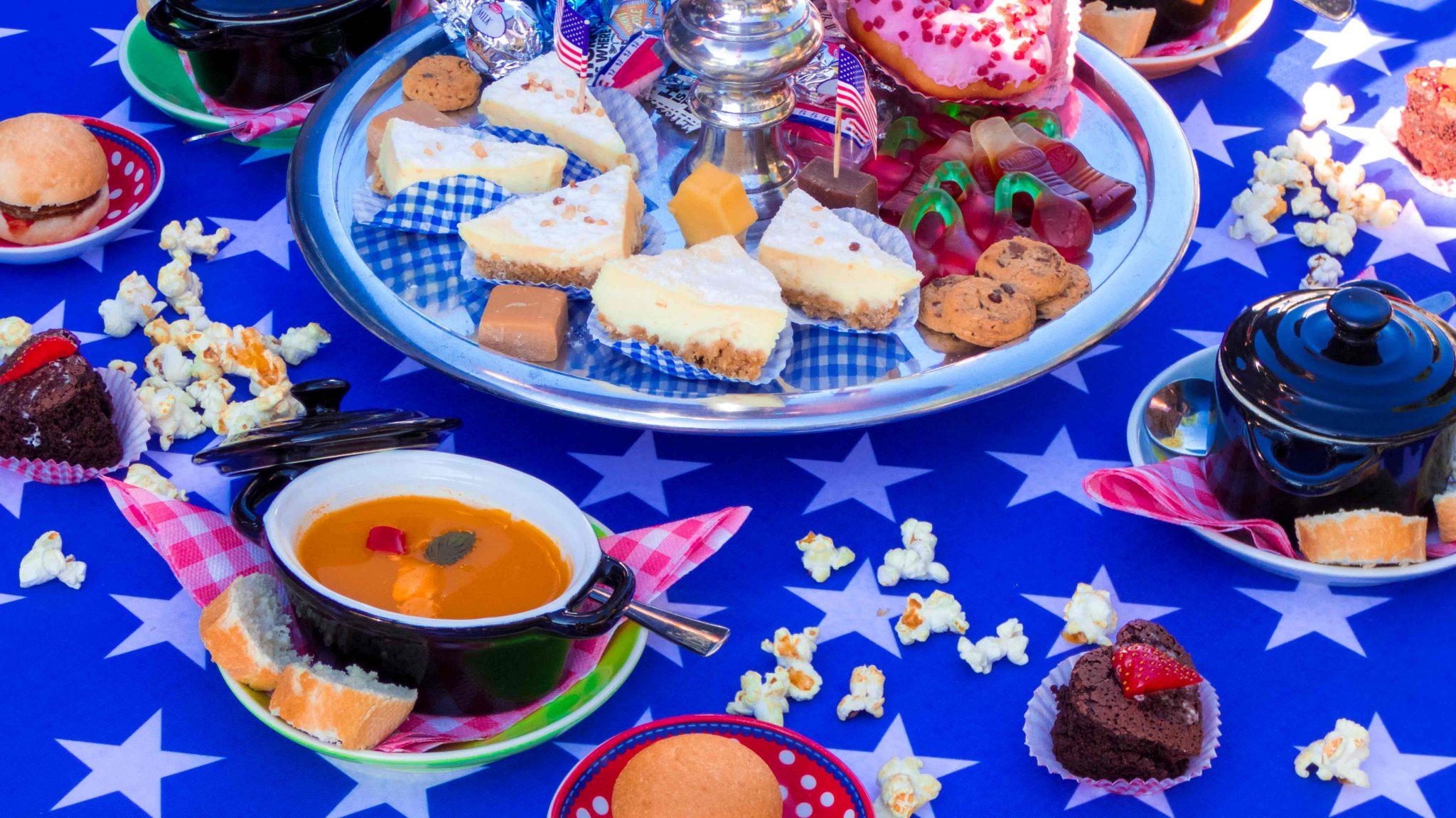 De Foute Amerikaanse Tea Party, Amerikaanse High tea, Lunchroom Bij Saartje