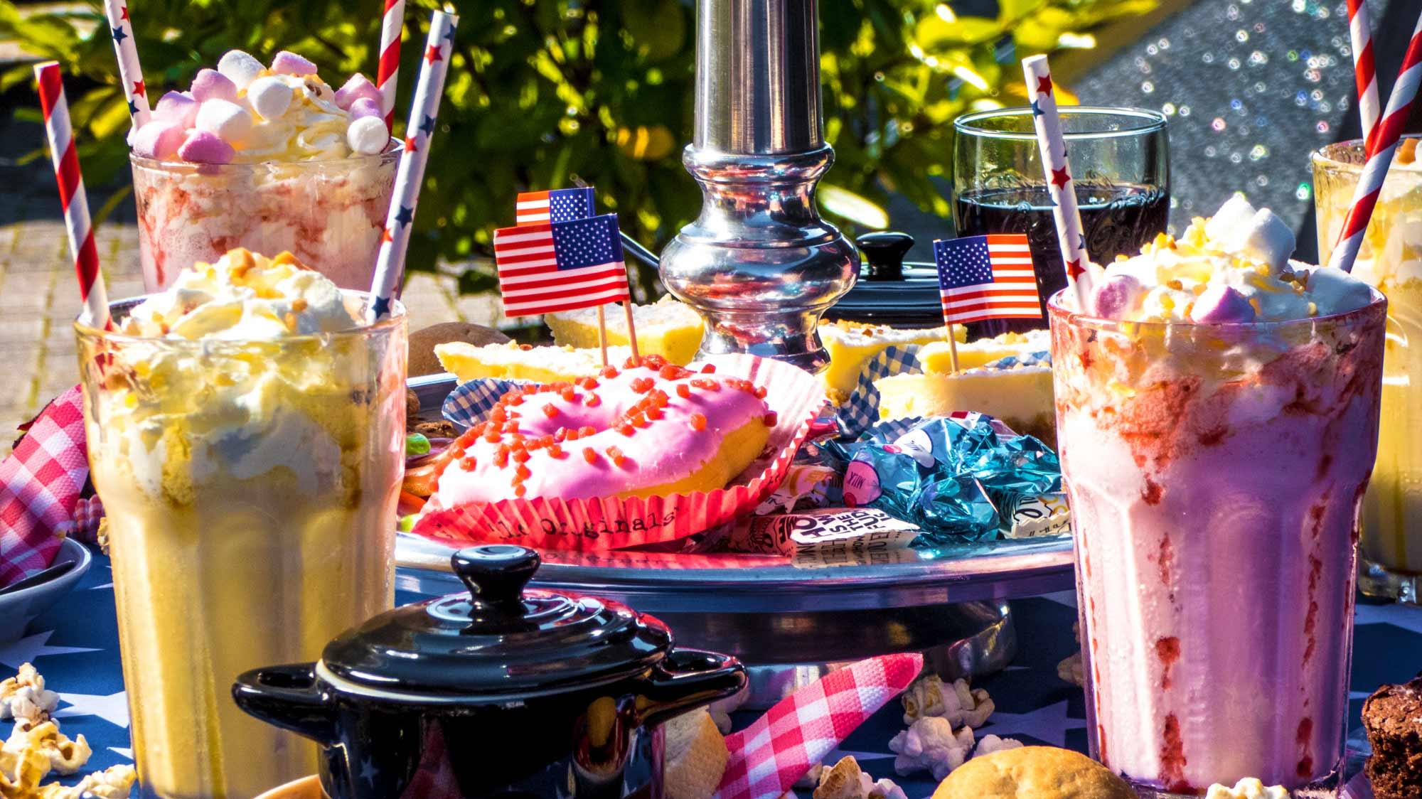 Foute Amerikaanse Tea Party, Amerikaanse High tea, Lunchroom Bij Saartje